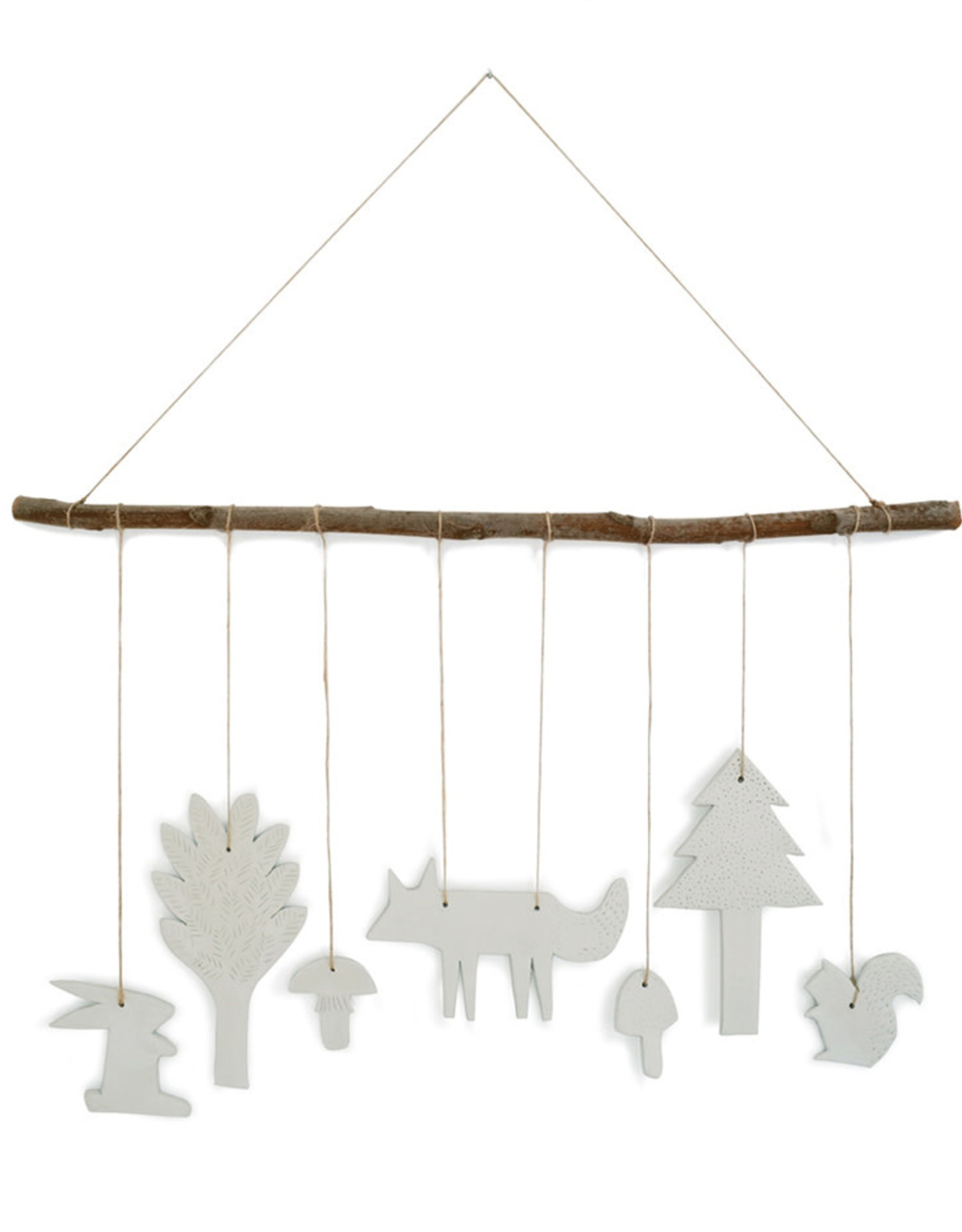 Tresxics Clay Forest Mobile - White