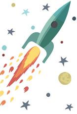 Tresxics Autocollant Mural Fusée et Étoiles