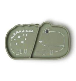 Loulou Lollipop Silicone Snack Plate - Alligator