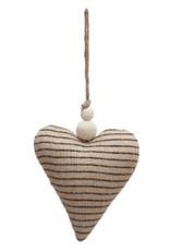 Jute Striped Heart Ornament