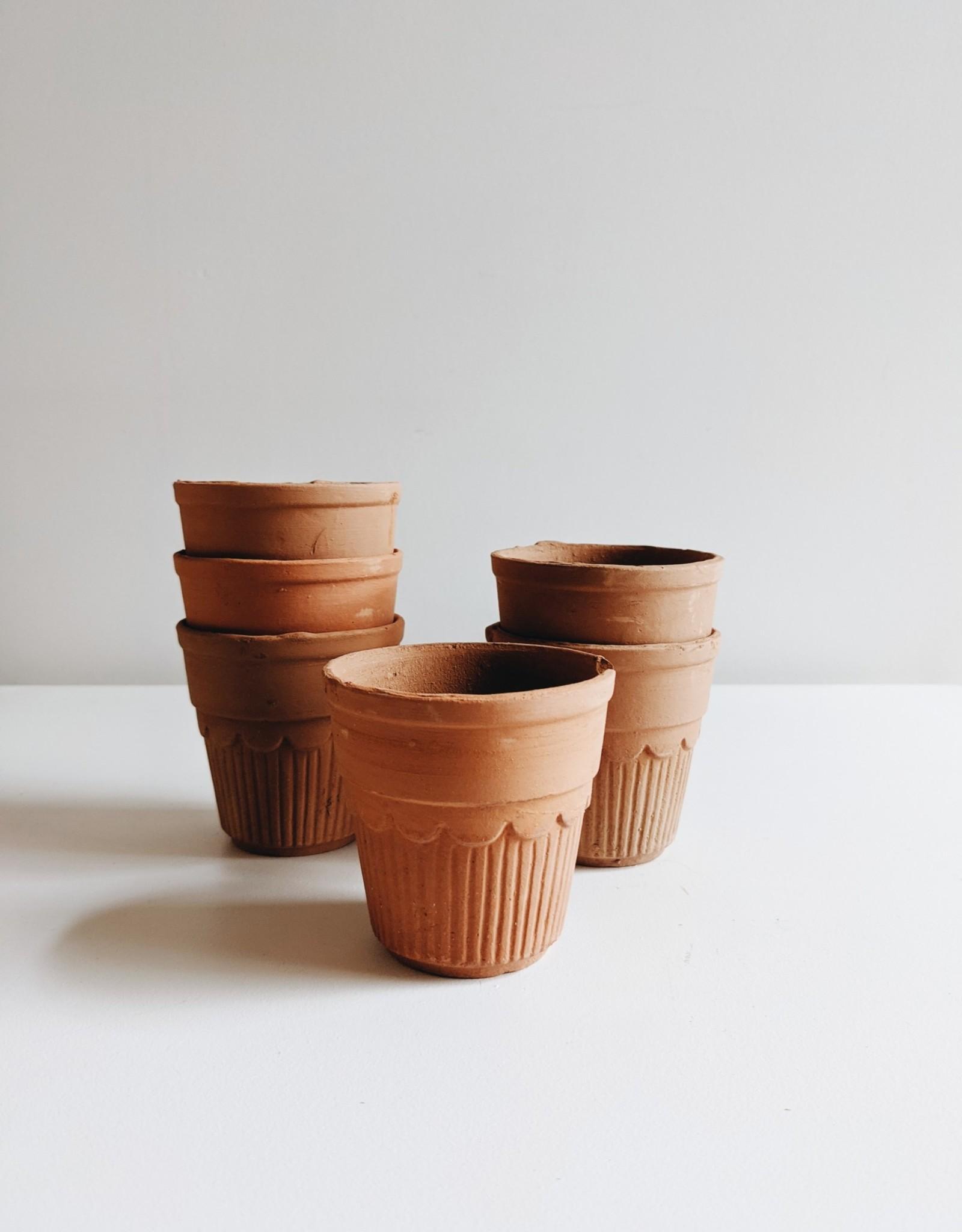 Cache-Pot en Terre Cuite (pour un pot de 2'')