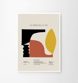 The Poster Club Le Sens de la Vie Print - by Lucrecia Rey Caro - 70x100cm