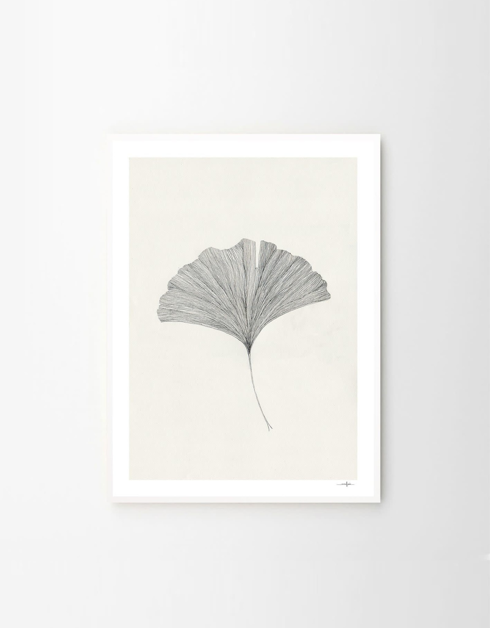 The Poster Club Grinko Leaf Print by Ana Frois - 50x 70cm