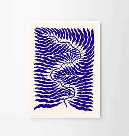 The Poster Club Little Blue Print by Linnéa Andersson - 50 x 70cm
