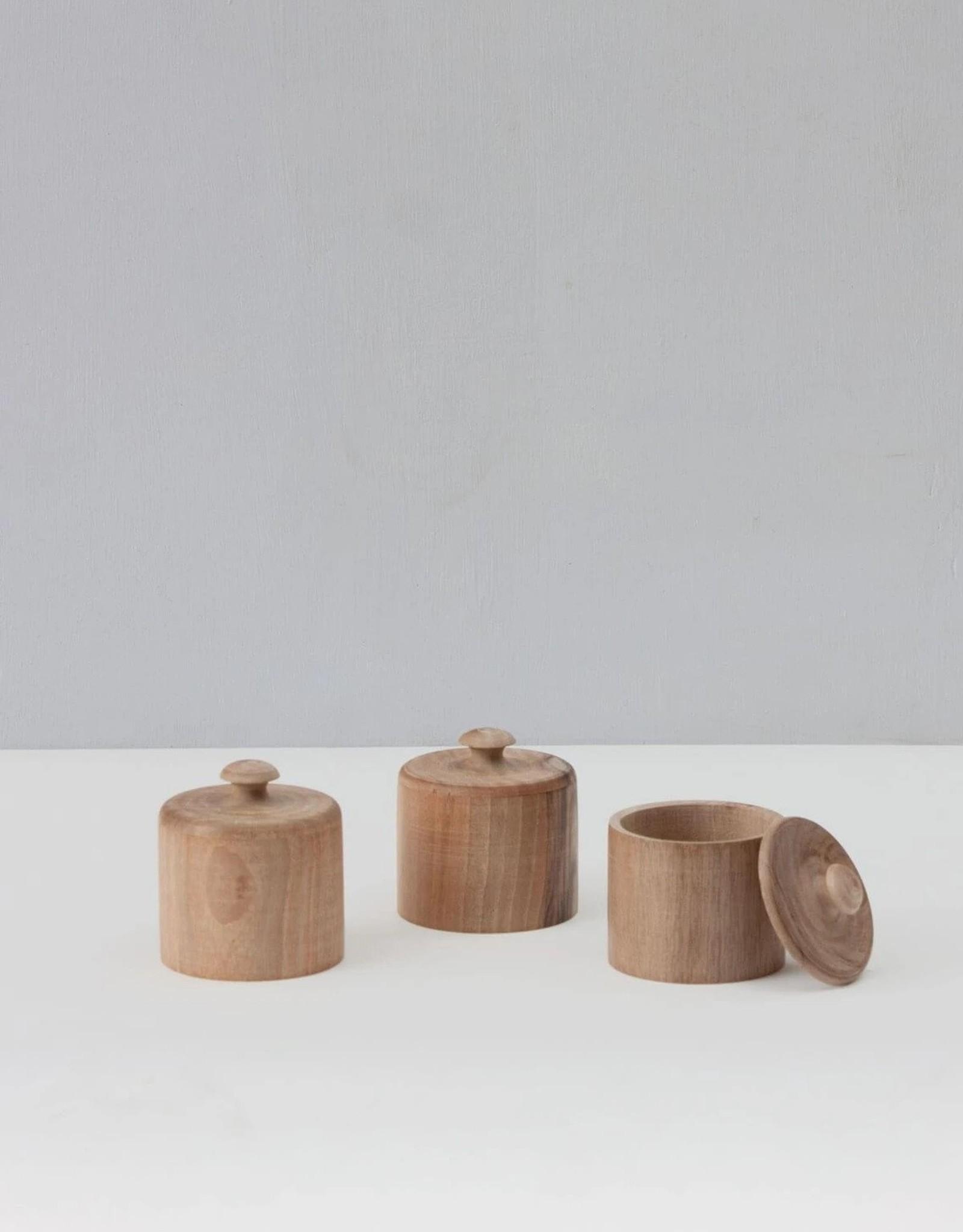 Walnut Wood Lidded Pot