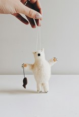 Polar Bear w/Fish Ornament