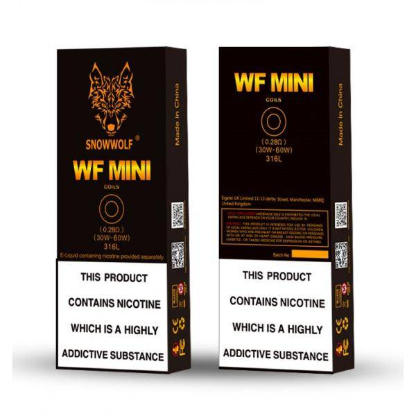 Sigelei Sigelei SnowWolf WF Mini Coils 5pk (MSRP $18.99)