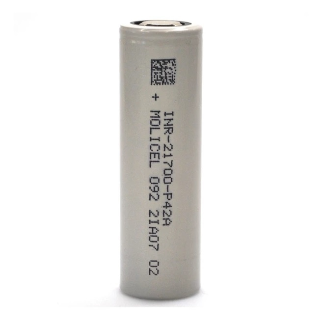 Molicel Molicel INR 21700-P42A 45A 4200mAh Battery (MSRP $15.99)