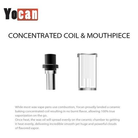 Yocan Yocan Explore Wax Coils w/ Mouthpiece 5Pack (MSRP $49.99)