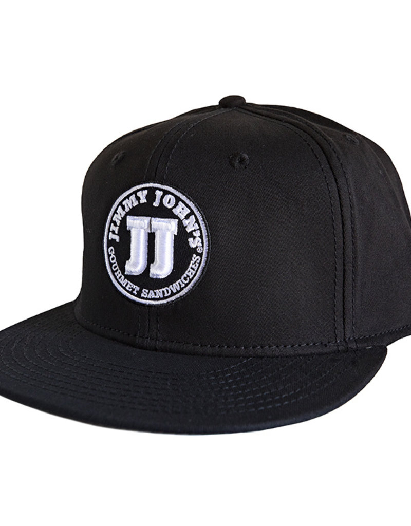 Jimmy John's White Dic Logo Flat Bill Hat