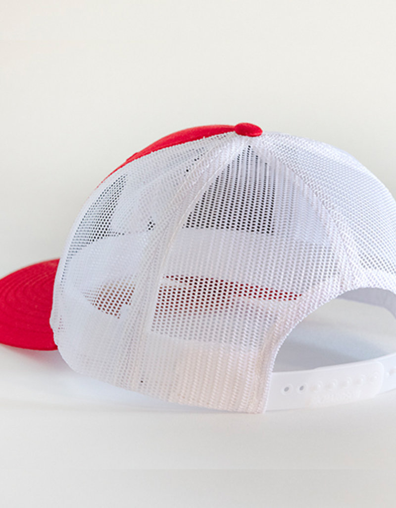 Richardson Red + White JJ Snapback Hat