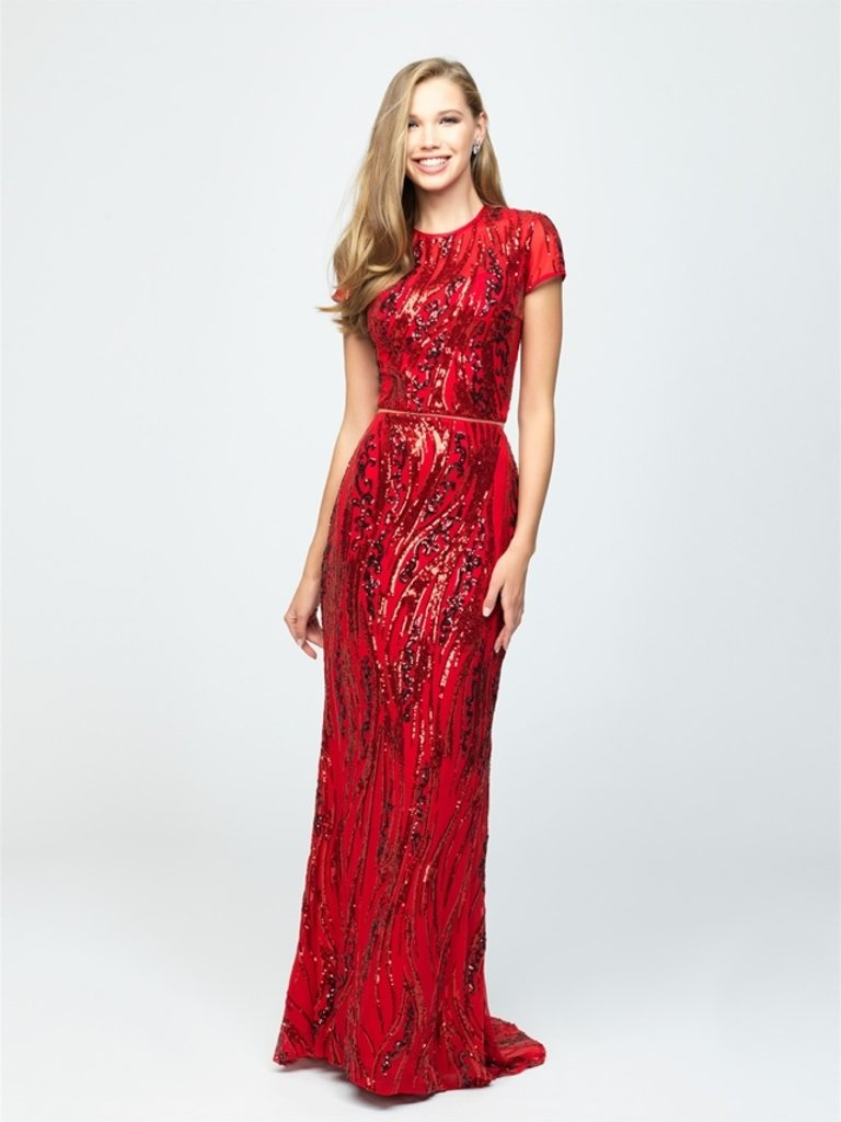 beeb9a82444d 19-250M RED two piece sequin formal Madison James - Twirl Dress Boutique