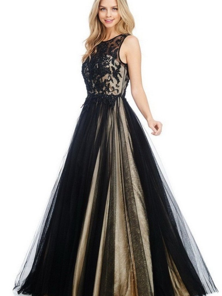 Ag Studio Cc71138 Black And Nude Formal With -4688