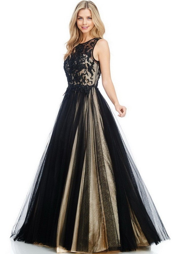 Ag Studio Cc71138 Black And Nude Formal With -1506