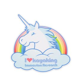 Immersion Research IR - I Love Kayaking Unicorn Sticker