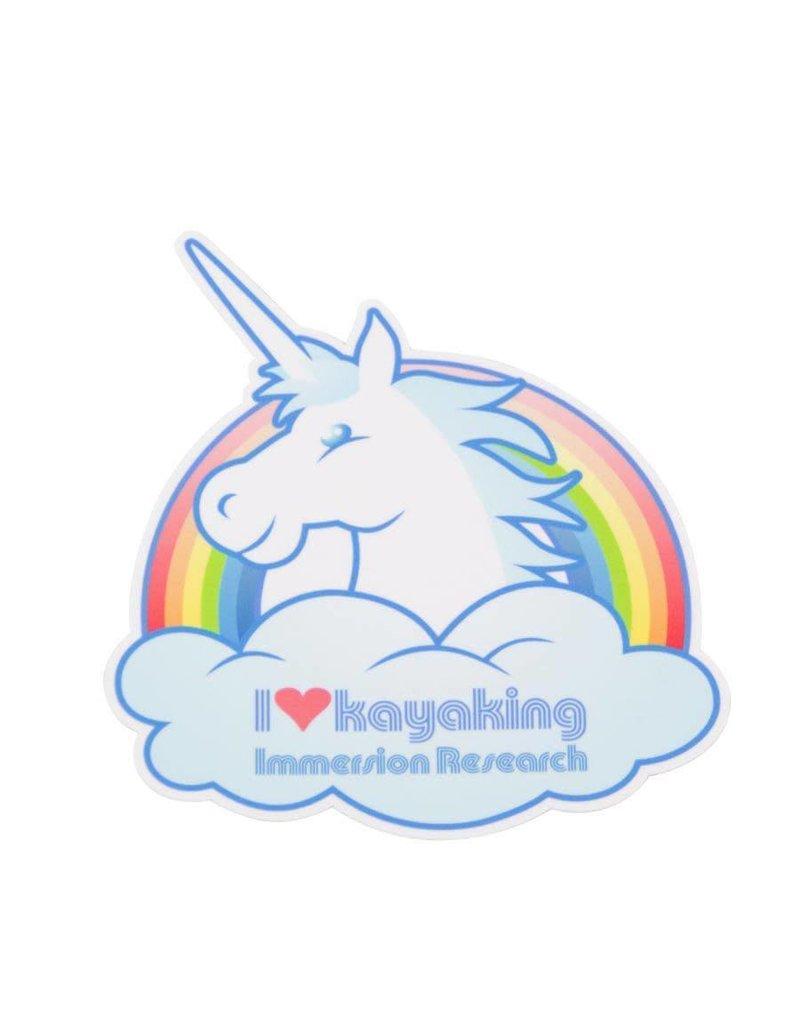 Immersion Research IR - I Love Kayaking Unicorn Sticker