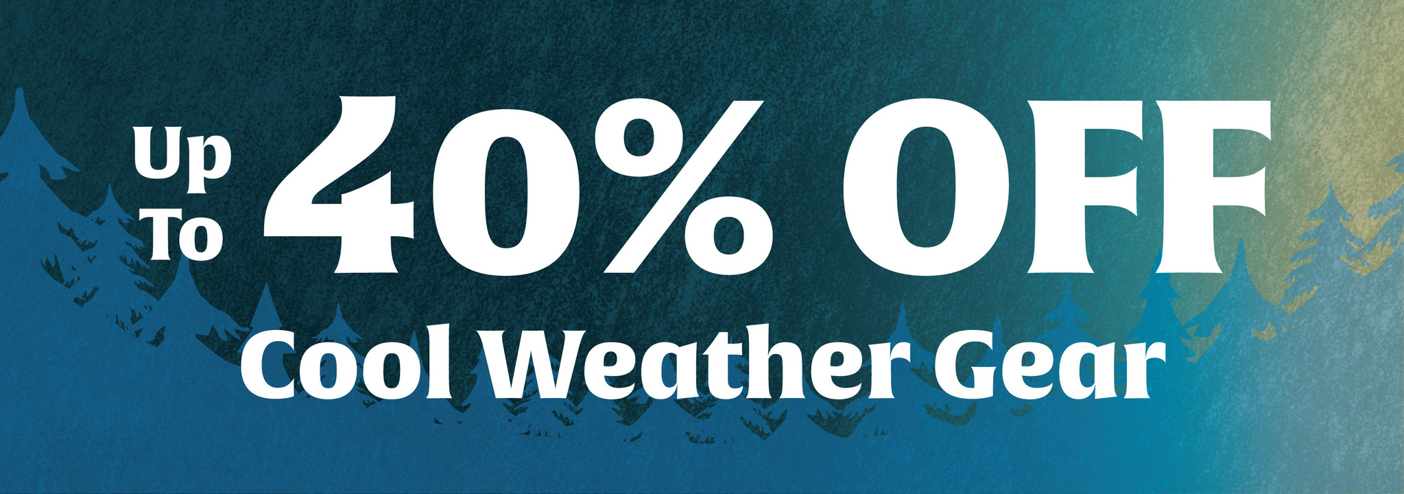 Spring Clearance Sale - up to 40% Off Cool Weather Gear