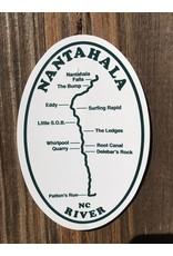 NOC Nantahala River Map Sticker