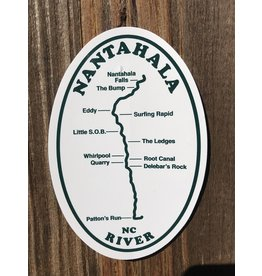 NOC Nantahala River Map Sticker