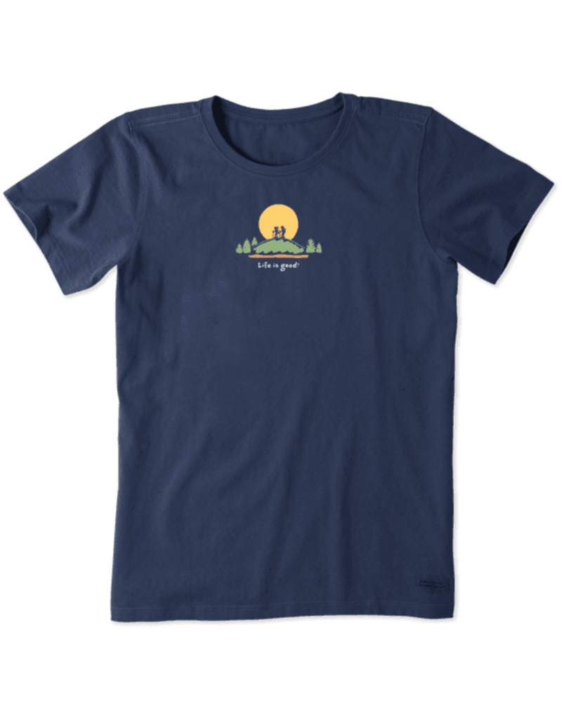 Life is Good Women's Hike Vista Vintage Crusher Tee