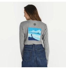 Life is Good Women's Positive Words Female Hiker Crusher Long Sleeve