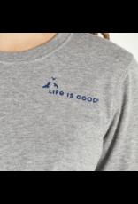 Life is Good Women's Positive Words Female Hiker Crusher Long Sleeve