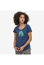 Patagonia Womens Live Simply Hive Organic Scoop T-Shirt