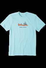 Life is Good Men's Happy Camper Canoe Vintage Crusher Tee