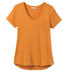 Prana Women's Foundation Short Sleeve Vneck