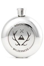 Kikkerland Wilderness Badge Flask 3oz