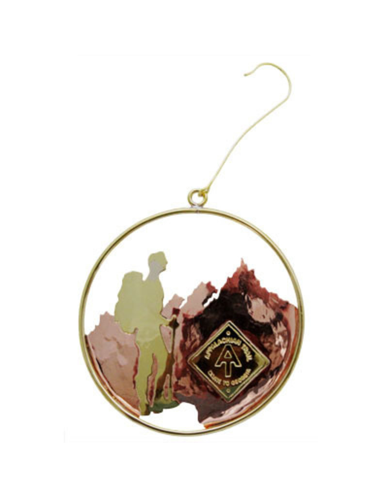 Appalachian Trail Conservancy Brass AT Backpacker Ornament