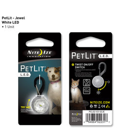 Nite Ize PetLit LED Collar Light Crystal Jewel