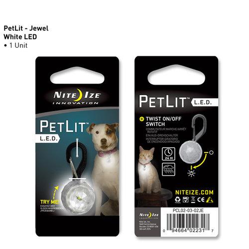 Nite Ize PetLit LED Collar Light Crystal Jewel