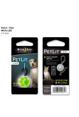 Nite Ize PetLit LED Collar Light Lime Paw Print