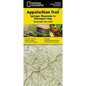 National Geographic Maps 1501 :: Appalachian Trail: Springer Mountain to Davenport Gap Map [Georgia, North Carolina, Tennessee]