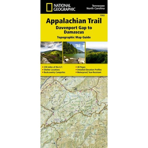National Geographic Maps 1502 :: Appalachian Trail: Davenport Gap to Damascus Map [North Carolina, Tennessee]