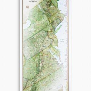 National Geographic Maps Appalachian Trail Wall Map