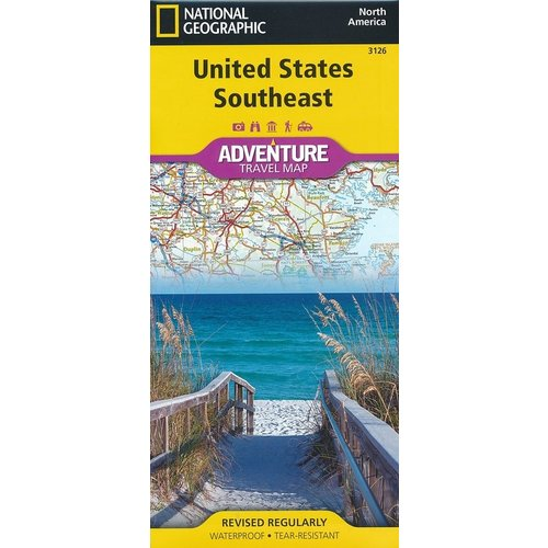 National Geographic Maps 3126 :: United States Southeast Map