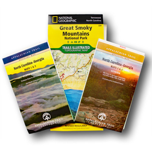 MOUNTAINEERS BOOKS North Carolina/Georgia AT Guidebook & Map Set