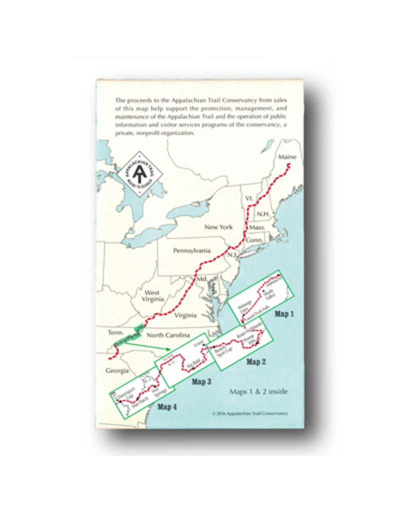 Appalachian Trail Conservancy Tennessee/North Carolina AT Map Set