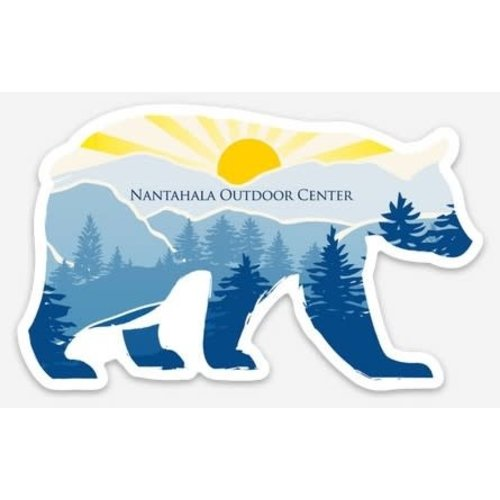 NOC Nantahala Sunset Bear die cut sticker