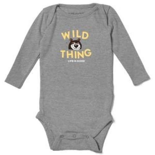 Life is Good Crusher Baby Long Sleeve Bodysuit