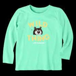 Life is Good Toddler Long Sleeve Crusher Tee