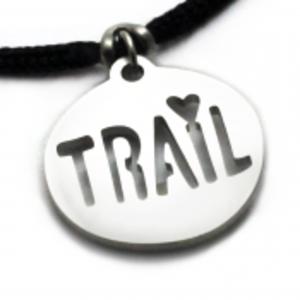 Tarma Trail Love Pendant on 2mm Black Polycord