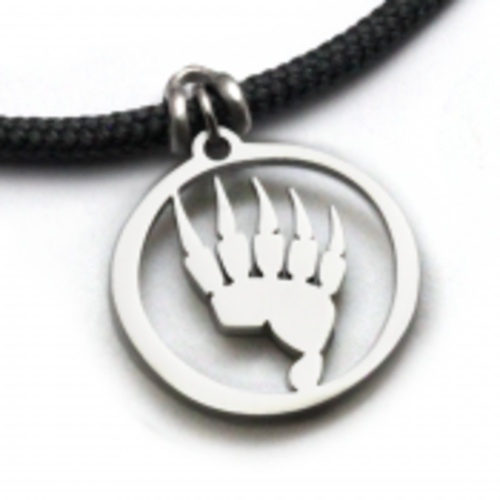 Bear Paw Pendant on 3mm Polycord