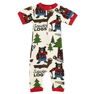 Sawing Logs Infant Romper