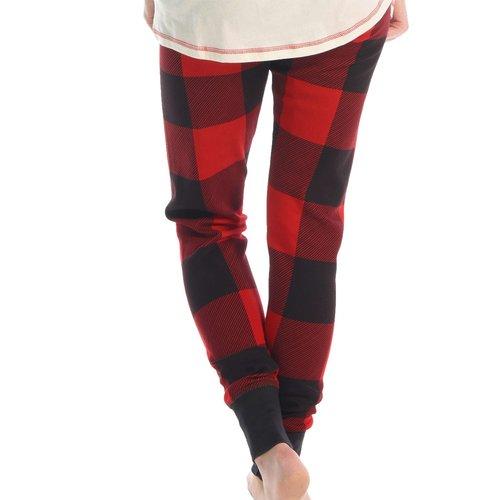 Women's Red Plaid Legging