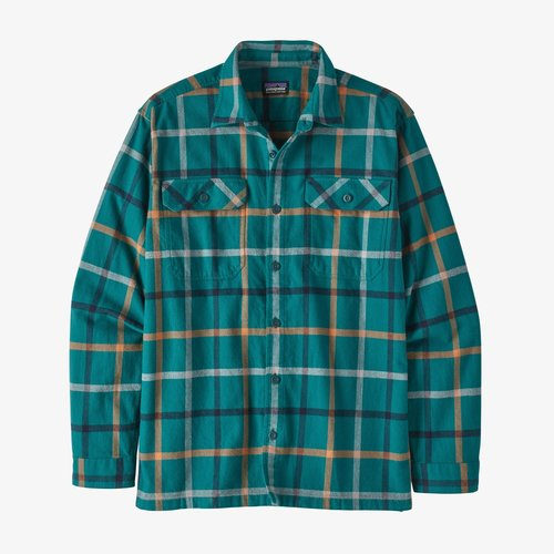 Patagonia Men's Long-Sleeved Organic Cotton Midweight Fjord Flannel Shirt