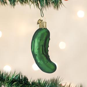 Pickle Blown Glass Ornament