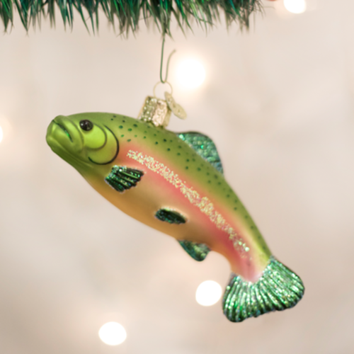 Kayak or Trout Blown Glass Ornament